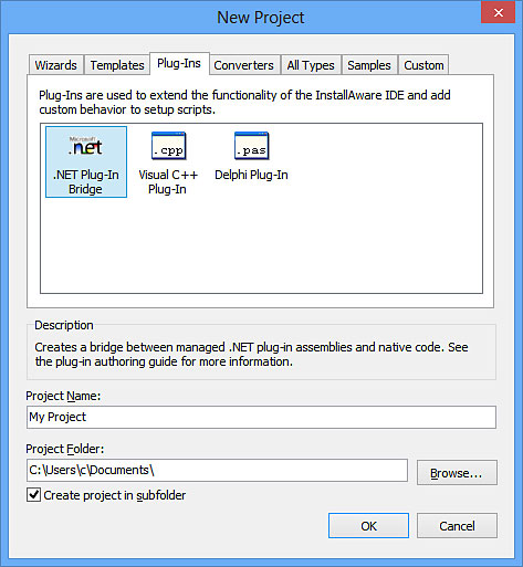Screenshot of InstallAware Windows Installer Scripting - Plug-In Extensibility