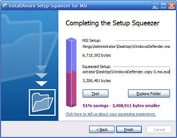 InstallAware Setup Squeezer for Windows Installer and Setup