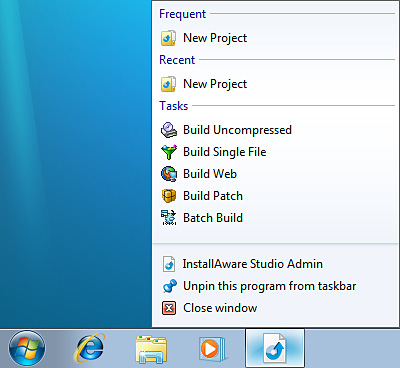 Screenshot of Window 7 Operating System