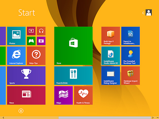 Screenshot of Window 8 Operating System